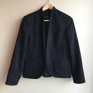 Cold water creek floral jacket blazer size S